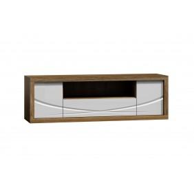 Szeroki, biały stolik RTV w stylu nowoczesnym JRPSt1