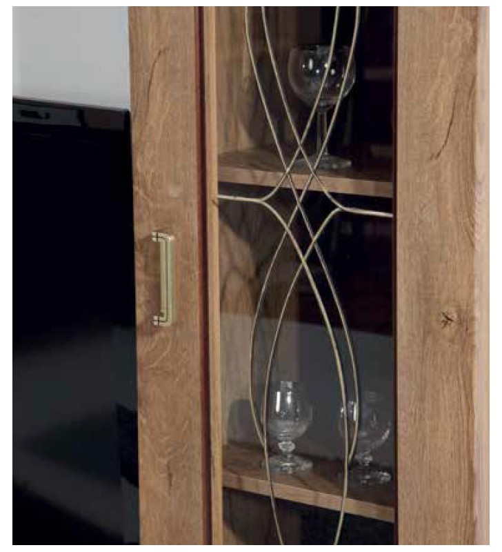 Brązowa komoda w stylu klasycznym z szufladami Tadeusz T-1