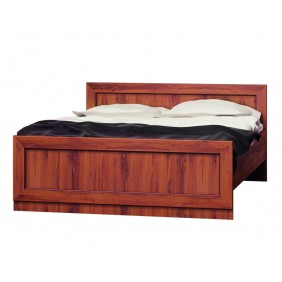 Brązowe łóżko (160x200 cm) w stylu klasycznym Tadeusz T-20