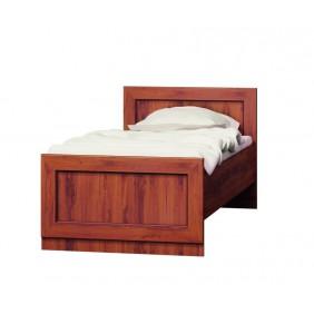 Brązowe łóżko (90x200 cm) w stylu klasycznym JRTLk2