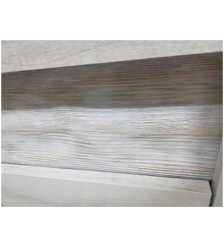 Komoda z ryflowanymi elementami drewna sosnowego Indianapolis I-7