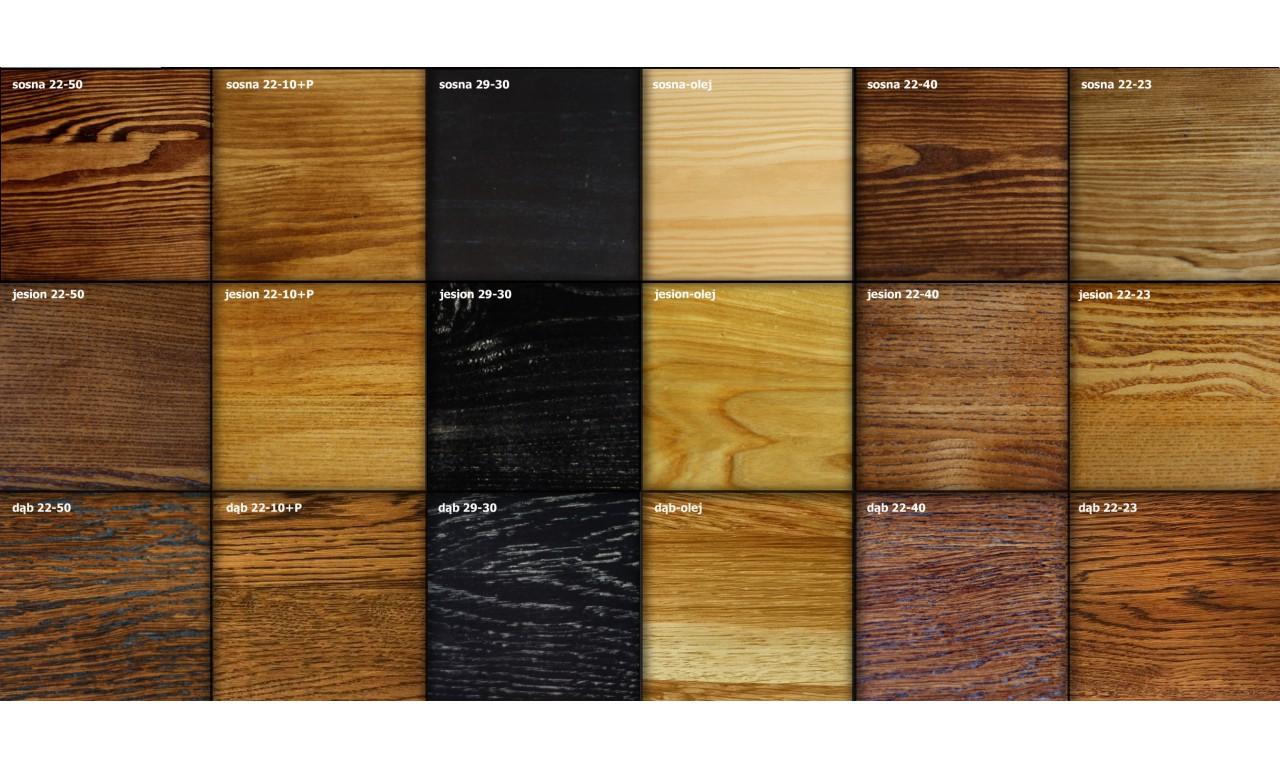 Szafka nocna, połączenie stali, drewna i skóry DSMGSz