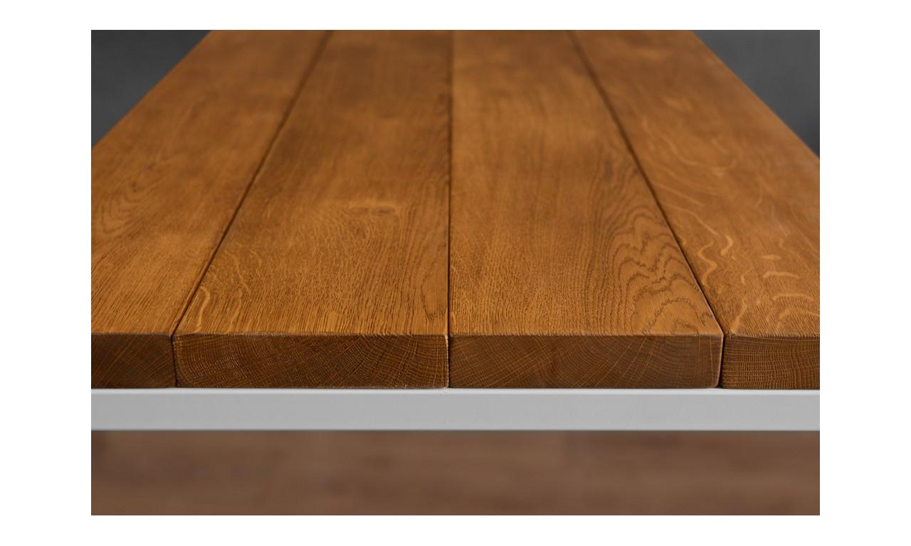 Stół/biurko w stylu industrialnym z drewna i stali DSMSt1
