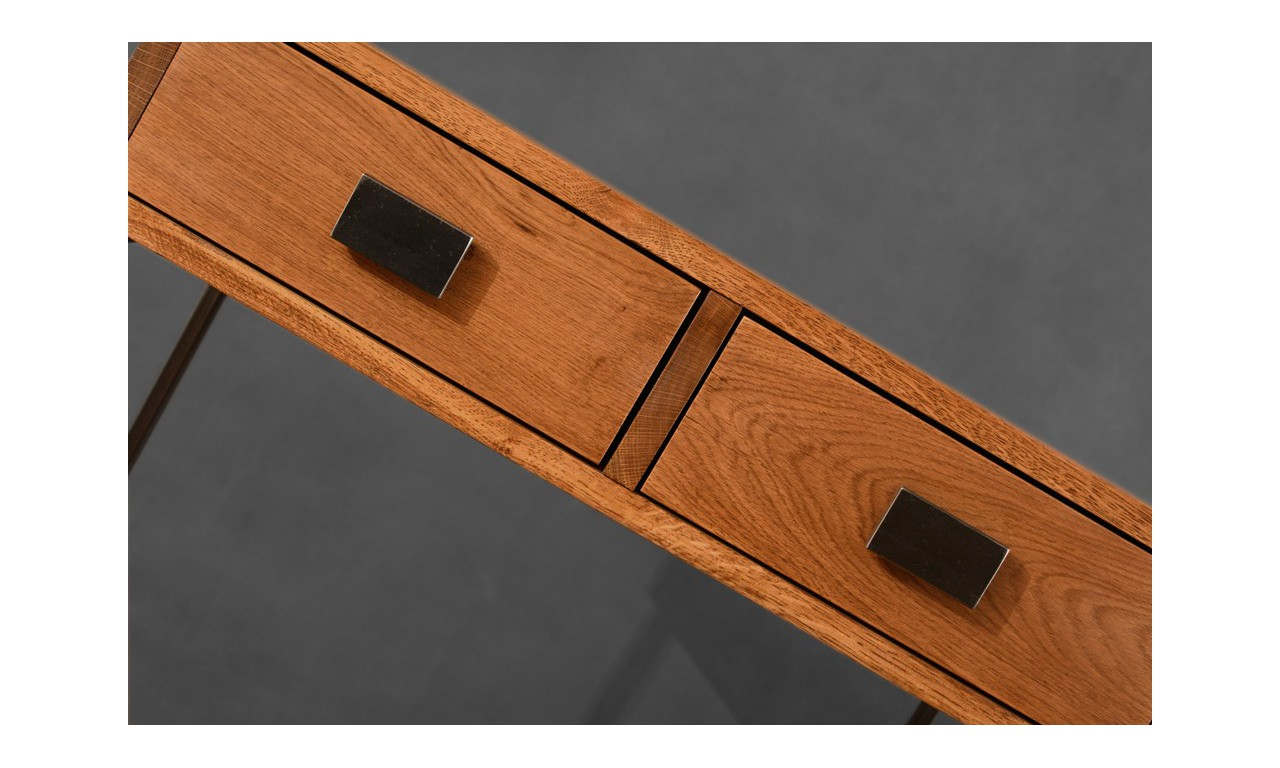 Konsola, mebel industrialny z drewna i stali DSMTk3