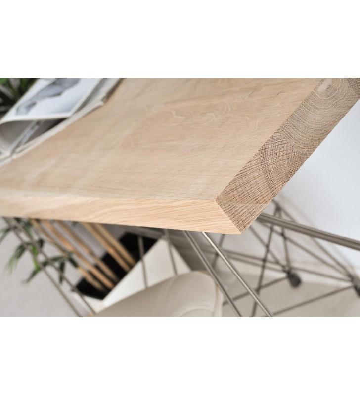 Konsola, mebel industrialny z drewna i stali DSMTk4