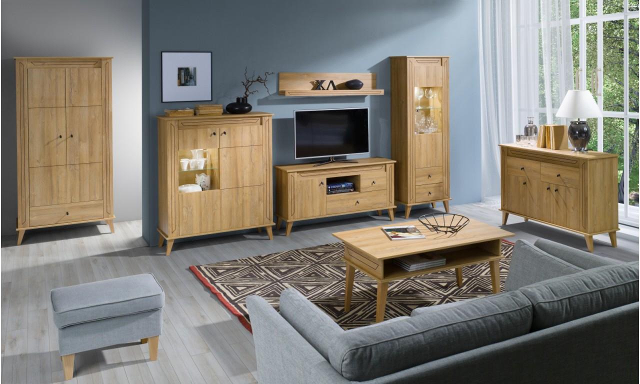 Szeroki stolik RTV w stylu skandynawskim Sonia SN-12