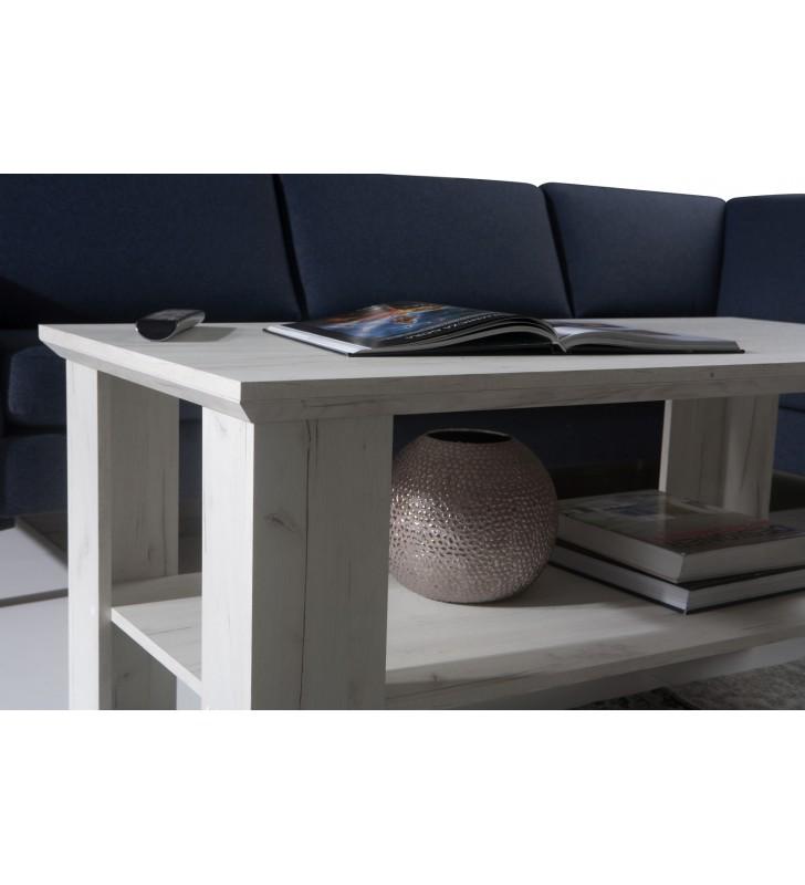 Szeroki stolik RTV w stylu rustykalnym Mezo MZ-15