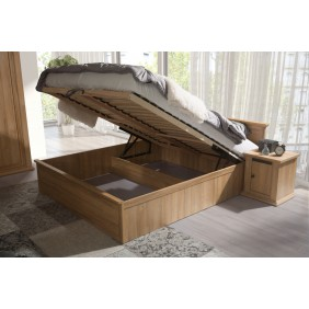 Łóżko (140x200 cm) w stylu rustykalnym MMLk1