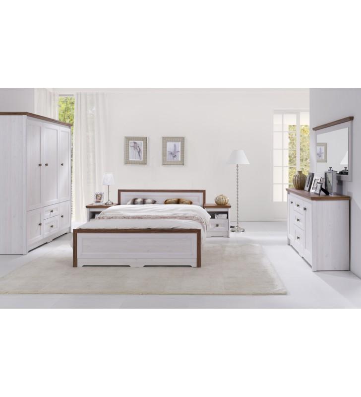 Łóżko (140x200 cm) w stylu klasycznym Parys PS-17