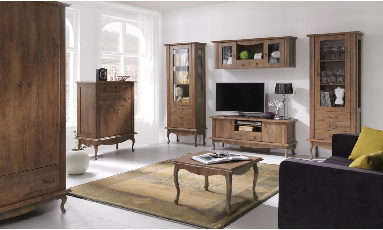 Szeroki stolik RTV w stylu prowansalskim Diana DA-14