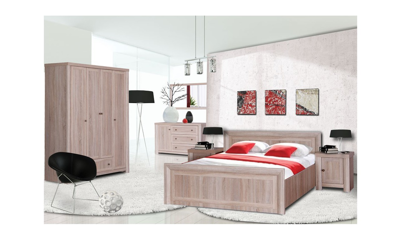 Łóżko (140x200 cm) w stylu klasycznym Venus VN-20