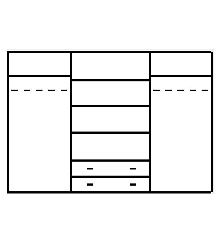 Brązowa, duża szafa w stylu klasycznym Tytan TSZ-150