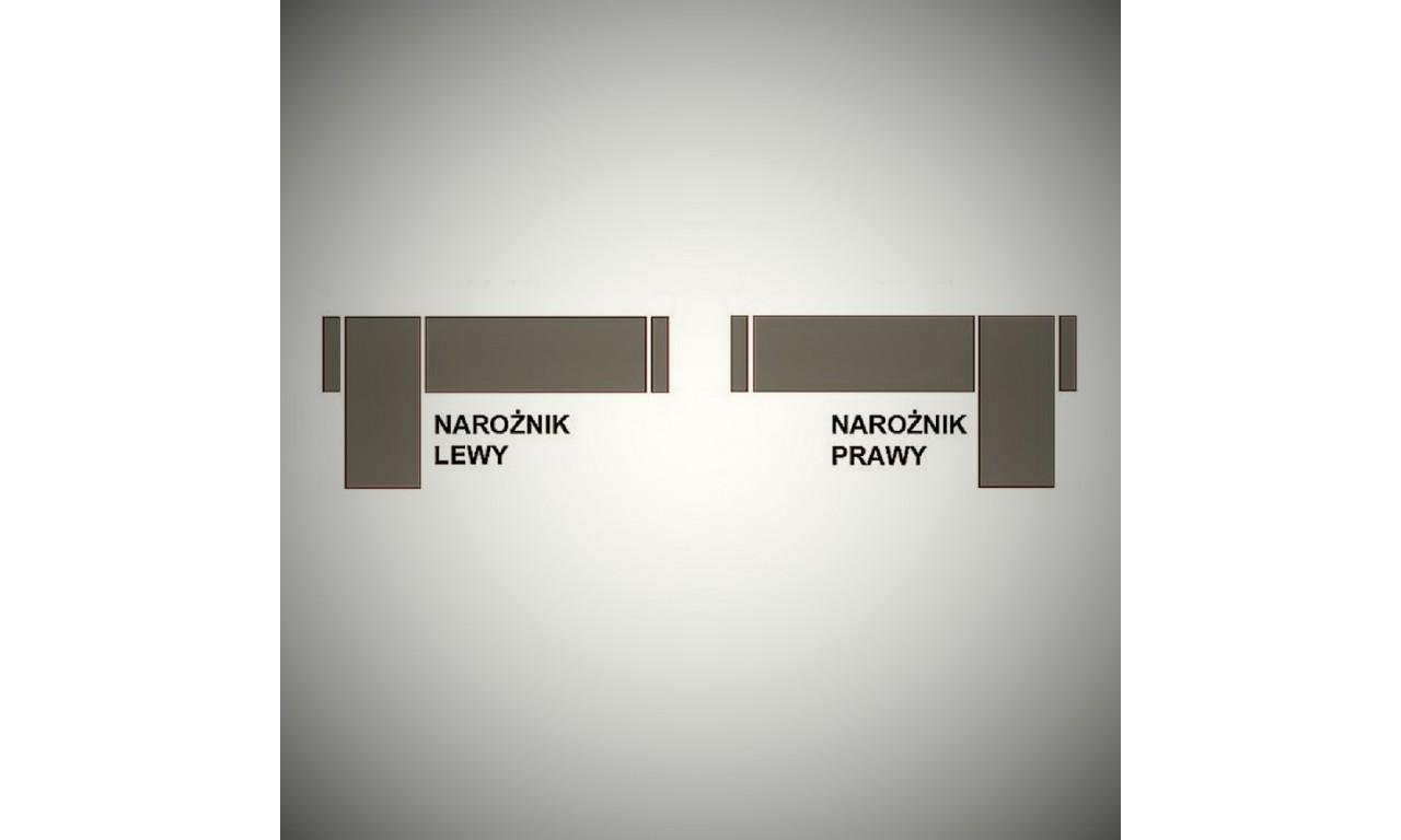 Czarny narożnik z funkcją spania i dwoma pojemnikami na pościel R-City (Inari100+Soft17)