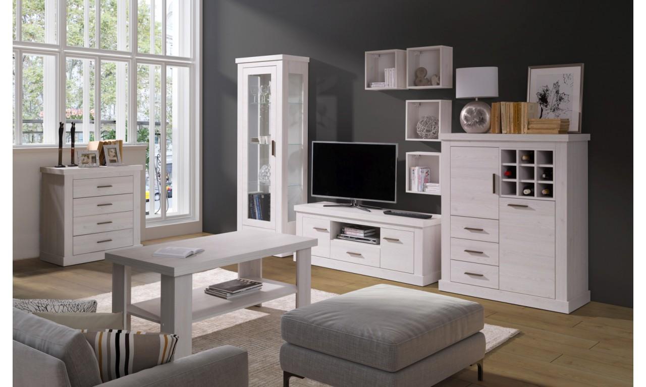 Zestaw mebli do salonu łączący styl nowoczesny i klasyczny Amber 1