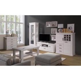 Zestaw mebli do salonu łączący styl nowoczesny i klasyczny MA1
