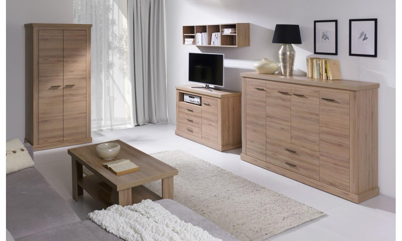 Zestaw mebli do salonu łączący styl nowoczesny i klasyczny Amber 3