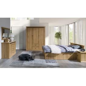Zestaw mebli do sypialni w stylu rustykalnym Mezo 3