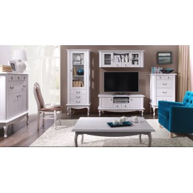Zestaw białych mebli do salonu w stylu prowansalskim Diana 1