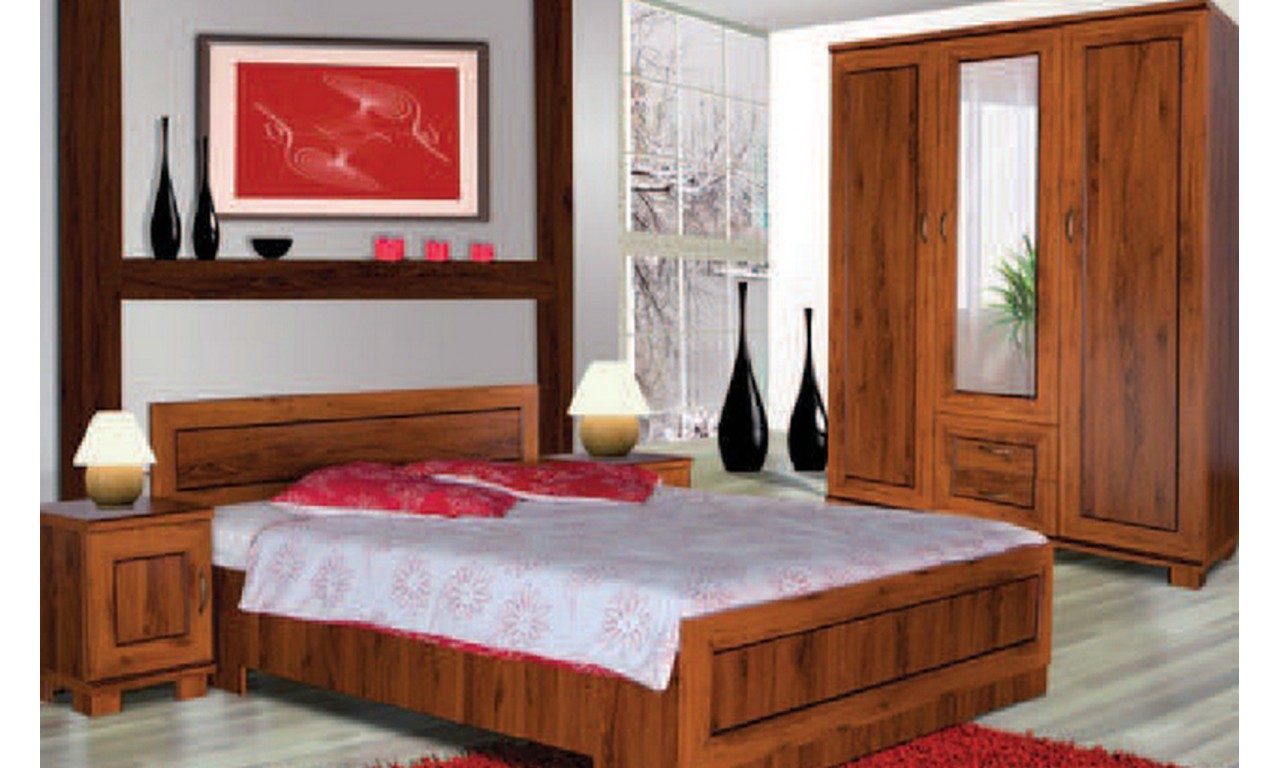 Brązowa szafka nocna w stylu klasycznym Tytan TS-40