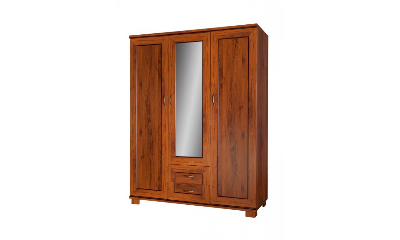 Zestaw brązowych mebli do sypialni w stylu klasycznym Tytan 1