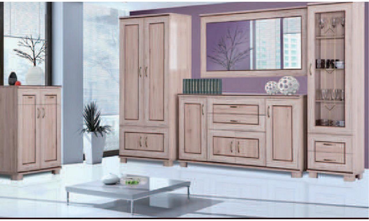 Zestaw brązowych mebli do salonu w stylu klasycznym Tytan 3