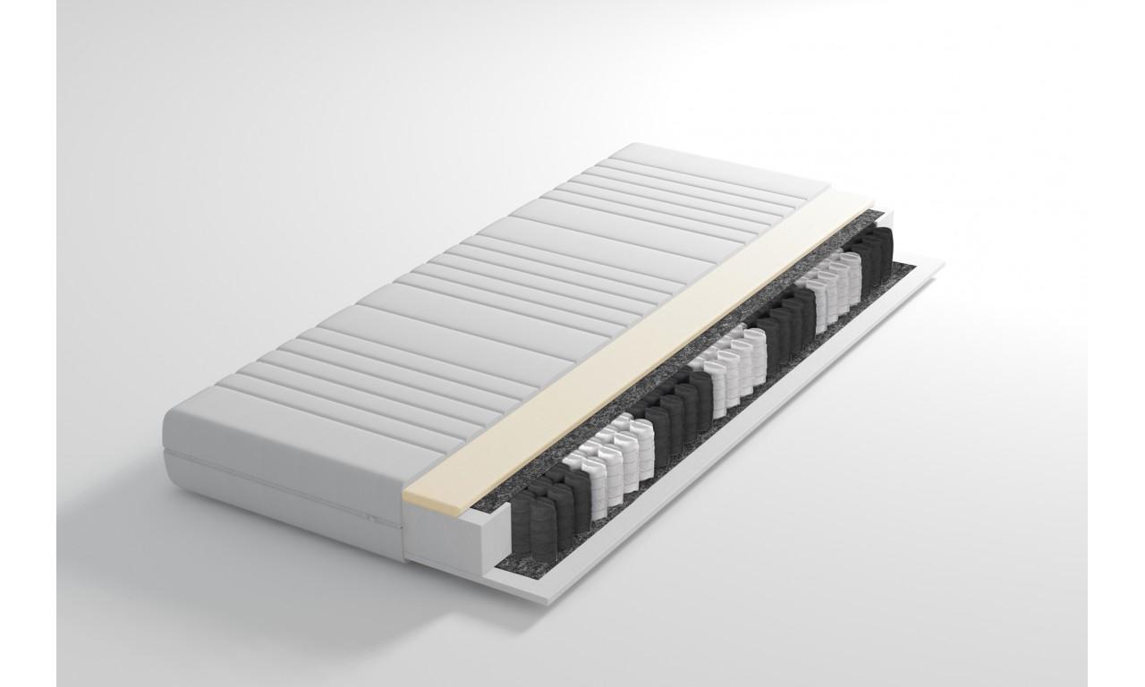 Materac (sprężyny kieszeniowe, pianka termoelastyczna) 90x200 LLZ