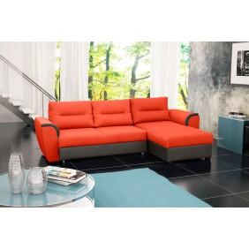 Pomarańczowy narożnik z funkcją spania i pojemnikiem na pościel KN19HC51s29