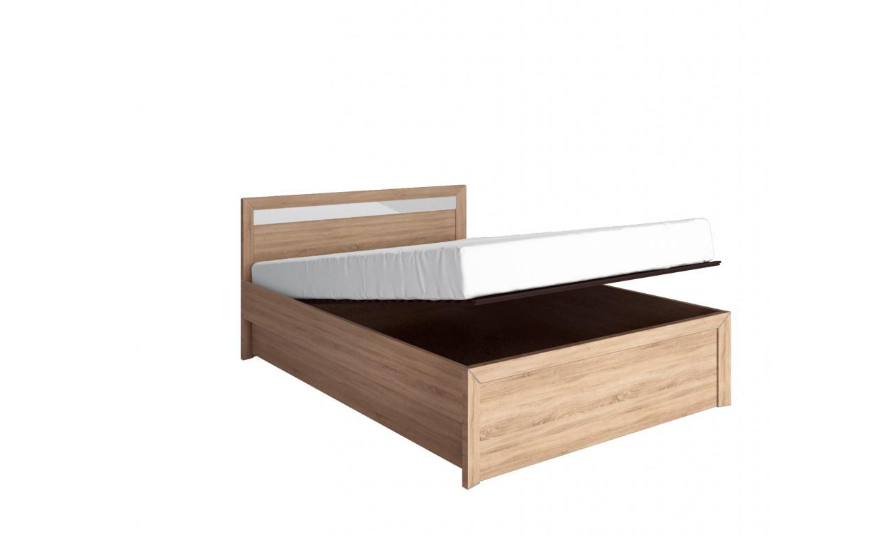 łóżko 160x200 Cm Z Pojemnikiem Shlk1 Stelaż Nie Połączenie Wybarwień Korpusfront Dąb Sonomalustro