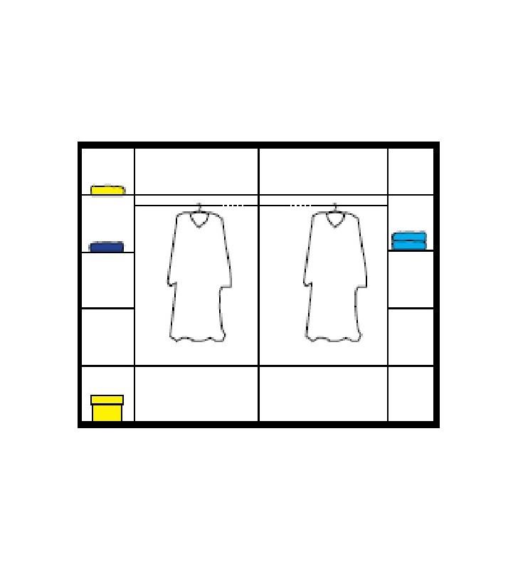 Duża szafa przesuwna z lustrami w stylu nowoczesnym Inez
