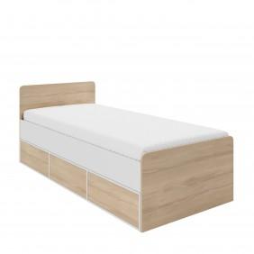 Łóżko (90x200 cm) wraz z wysuwanym pojemnikiem Parys