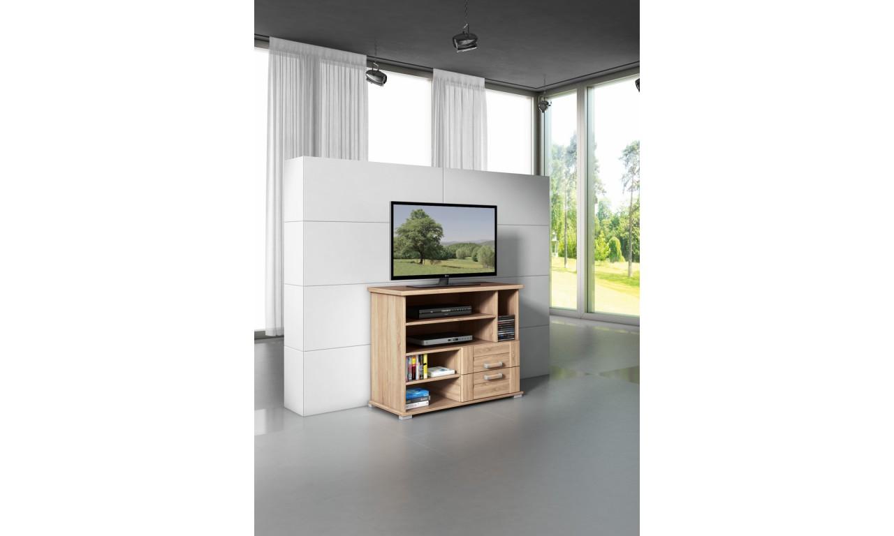 Brązowy stolik pod telewizor Stollech RTV I
