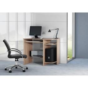Biurko w stylu nowoczesnym z odkrytymi półkami SB2
