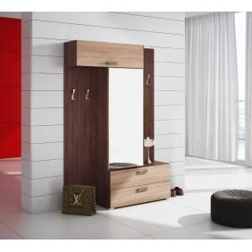 Garderoba z lustrem niewielką szafą SGr1