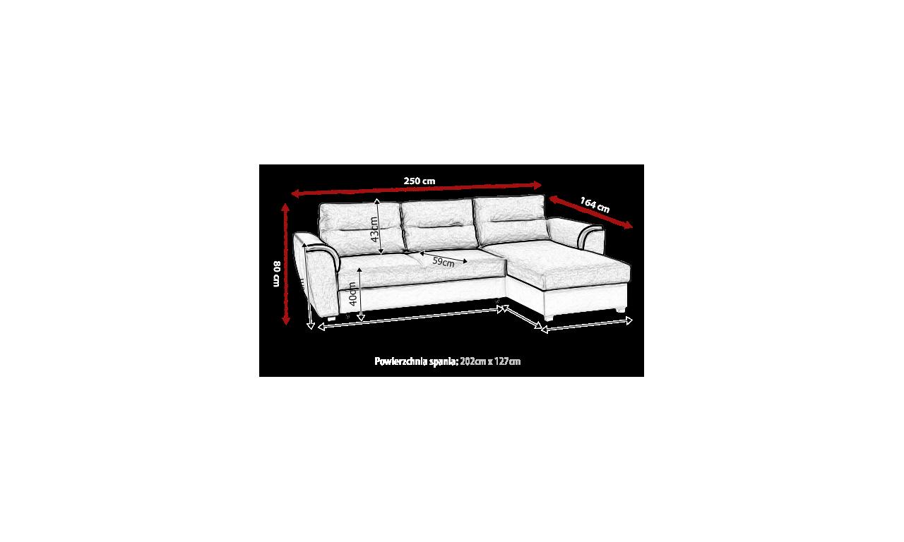 Fioletowy narożnik z funkcją spania i pojemnikiem na pościel Tomek (Inari78+Soft11)