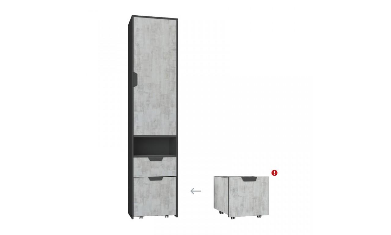 Regał (z kontenerkiem) w stylu nowoczesnym Nano 3