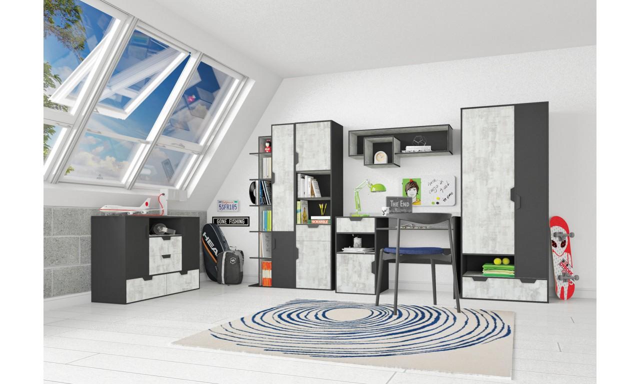 Łóżko z kontenerkiem (90x200 cm) w stylu nowoczesnym Nano 13