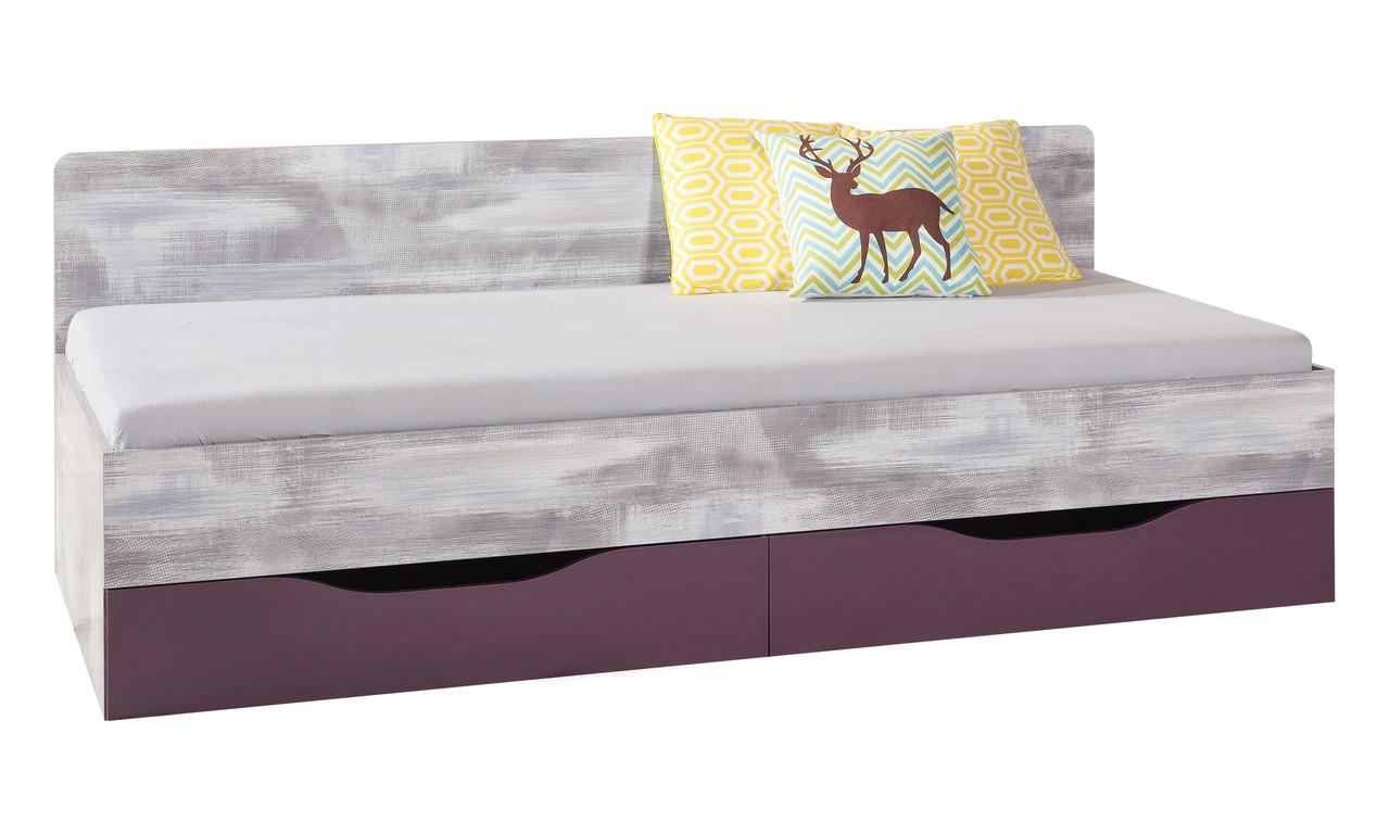 Łóżko (90x200 cm) w stylu nowoczesnym ZOOM 12a