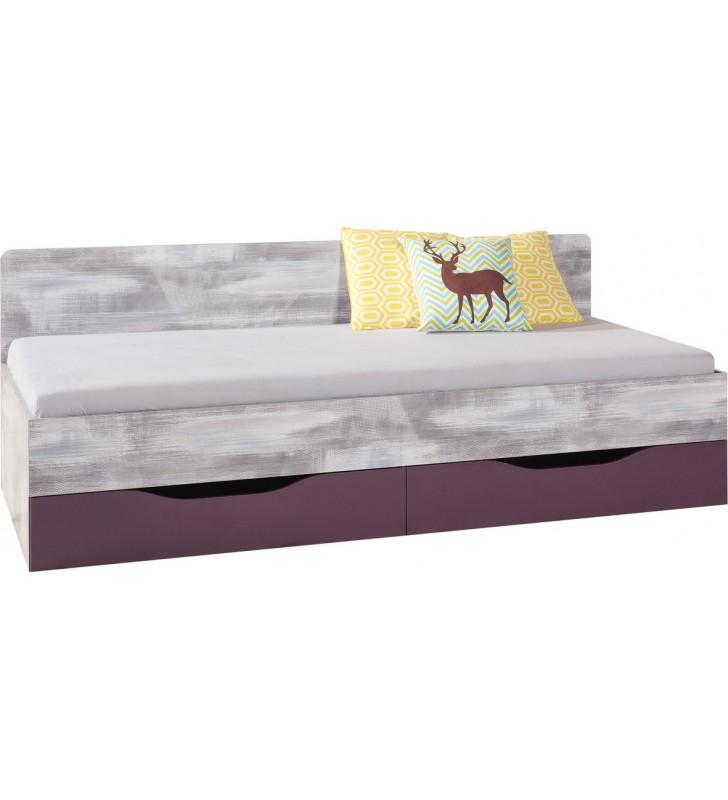 Łóżko (90x200 cm) z dostawką w stylu nowoczesnym ZOOM 12a+b
