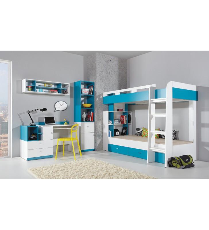 Regał w stylu nowoczesnym do pokoju dziecięcego MOBI 3