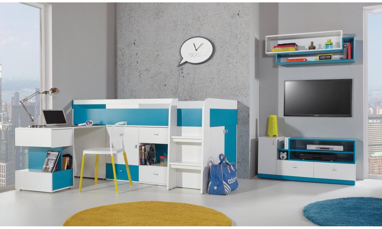 Regał w stylu nowoczesnym do pokoju dziecięcego MOBI 5