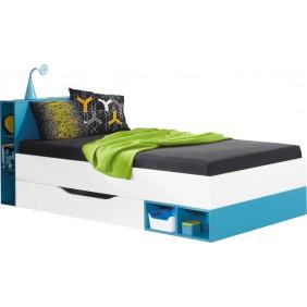 Łóżko (90x200 cm) w stylu nowoczesnym do pokoju dziecięcego MOBI 18