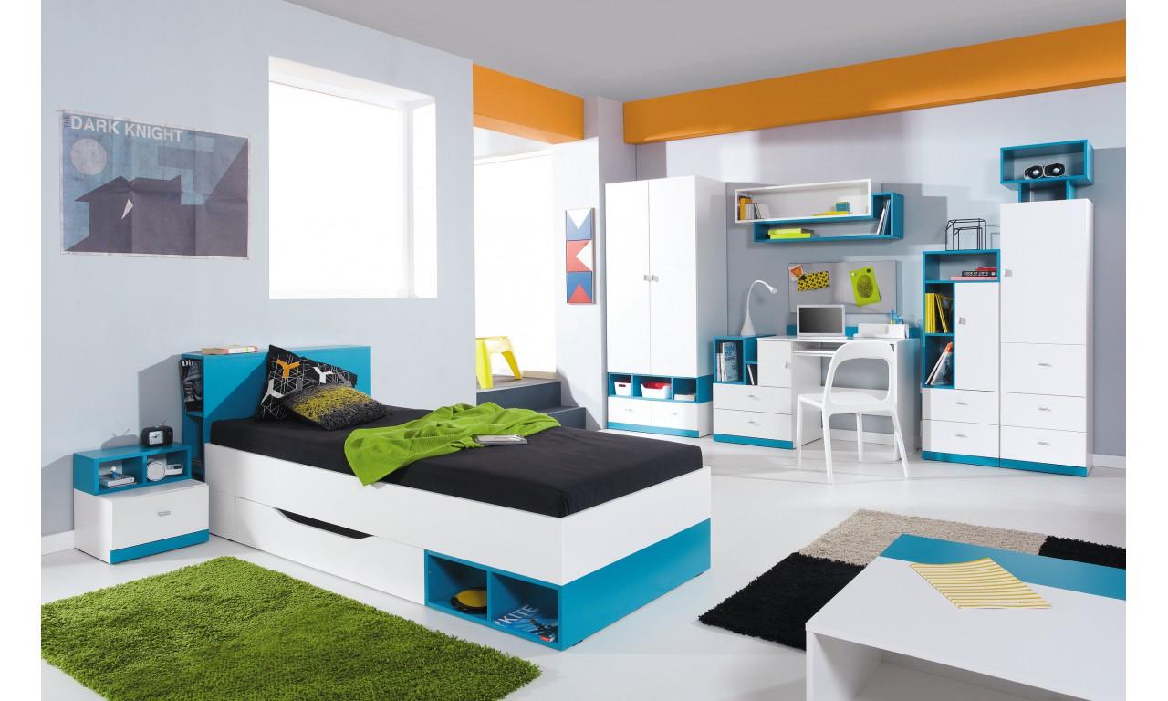 Łóżko piętrowe podwójne (90x200 cm) MOBI 19