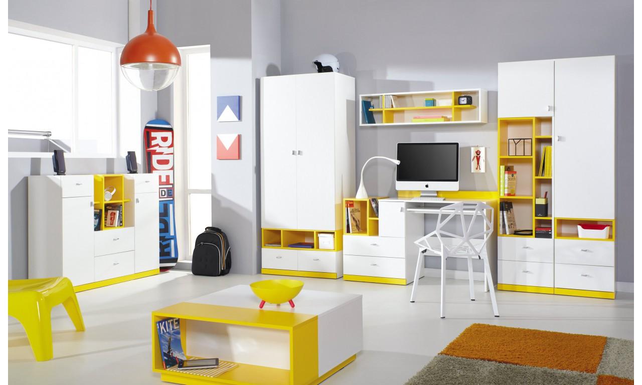 Zestaw mebli dziecięcych w stylu nowoczesnym MOBI A + ława