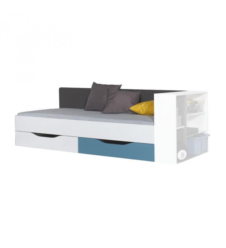 Łóżko (90x200 cm) w stylu nowoczesnym do pokoju młodzieżowego Tablo 12a