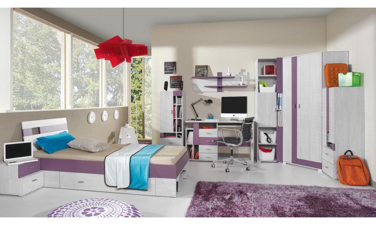 Łóżko (90x200 cm) w stylu nowoczesnym do pokoju młodzieżowego NEXT 19
