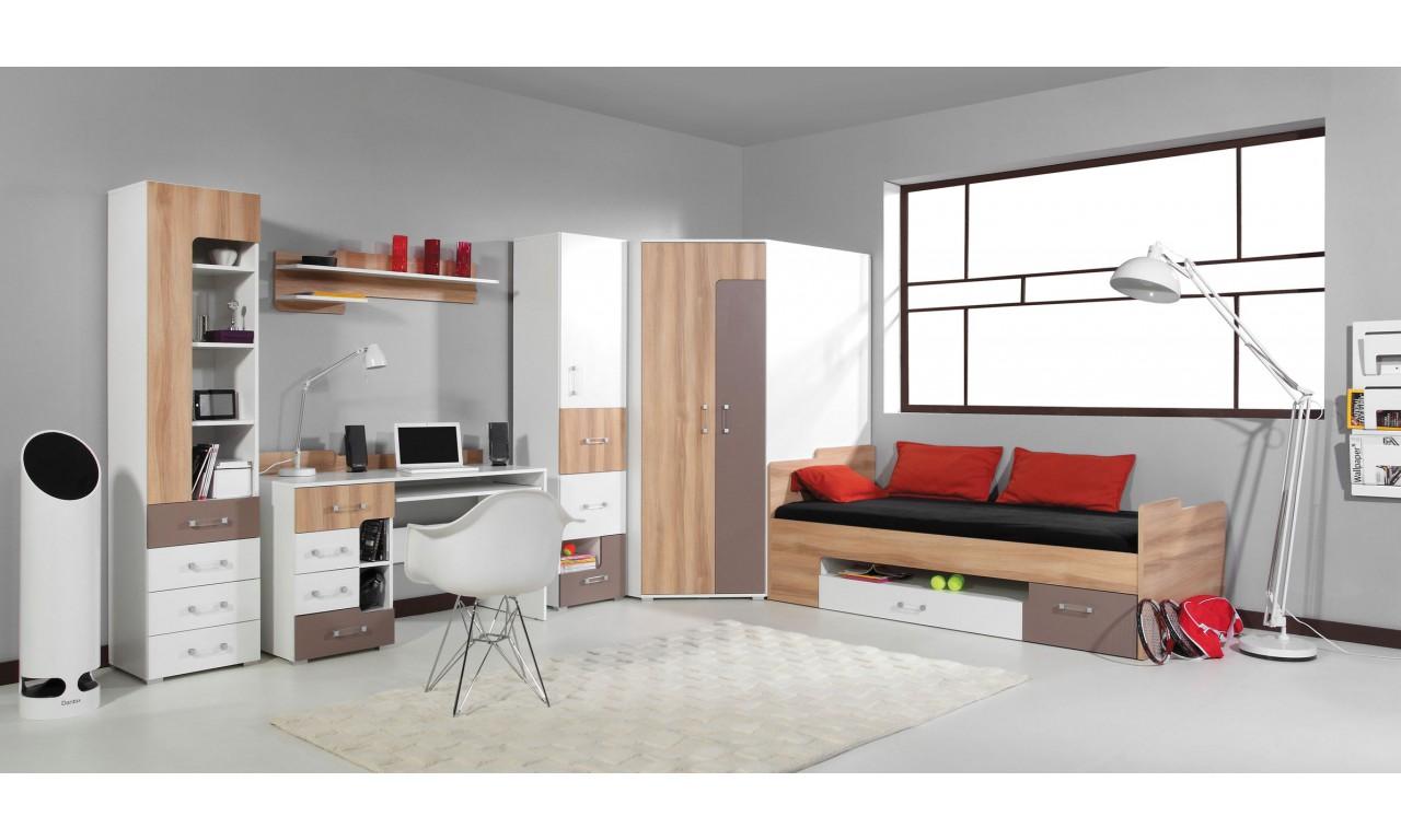 Półka wisząca w stylu nowoczesnym do pokoju młodzieżowego BLOG 18