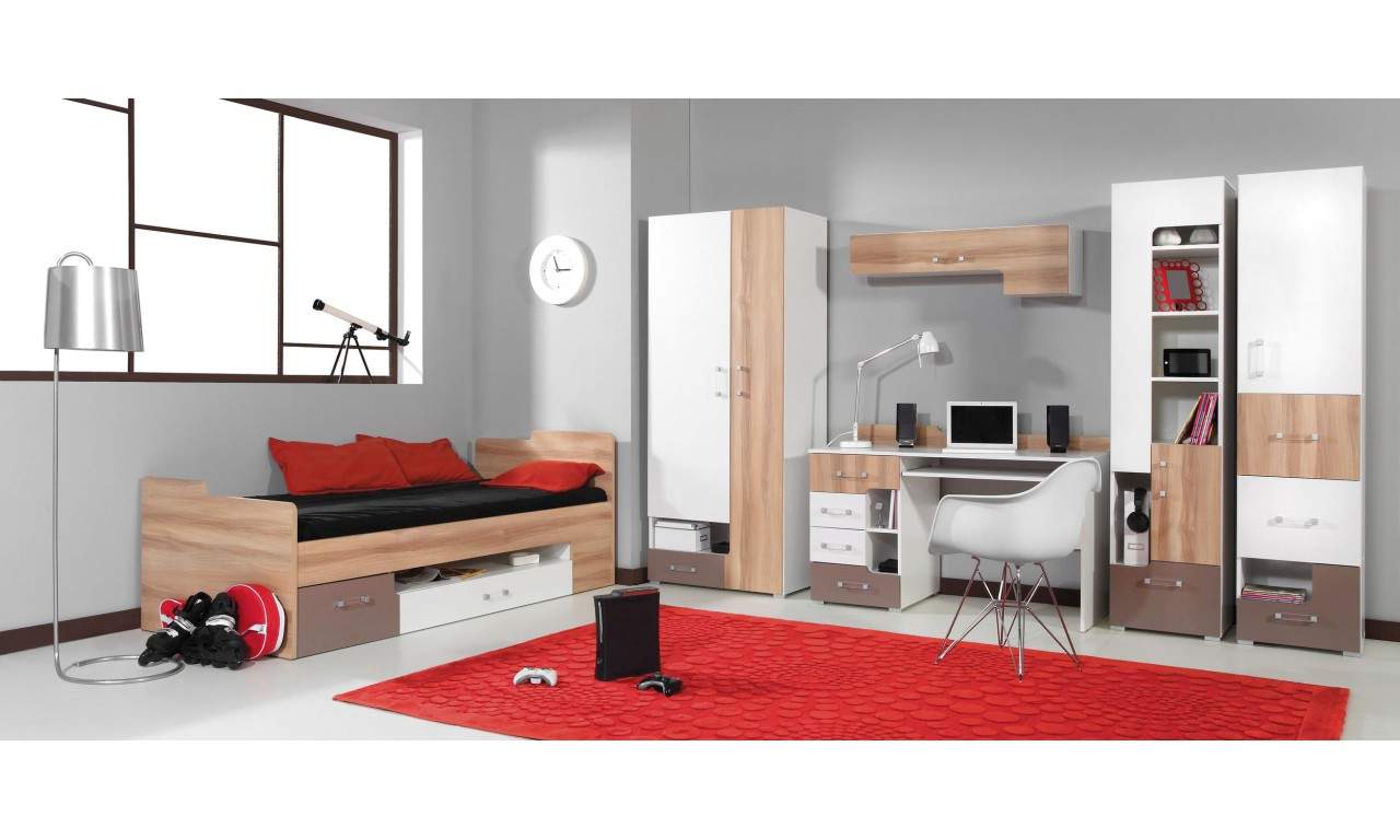 Łóżko (90x200 cm) w stylu nowoczesnym do pokoju młodzieżowego BLOG 20