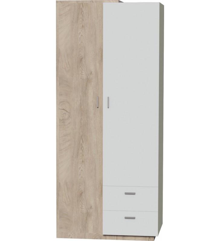 Brązowobiała lub brązowoczarna szafa w stylu nowoczesnym ETNA 1