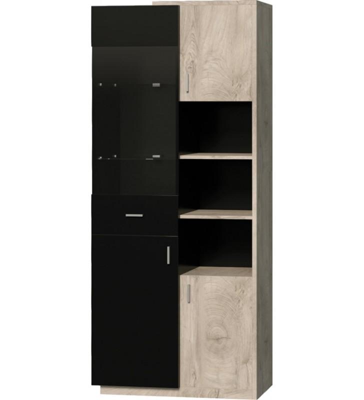 Brązowobiała lub brązowoczarna szafka wisząca w stylu nowoczesnym ETNA 3