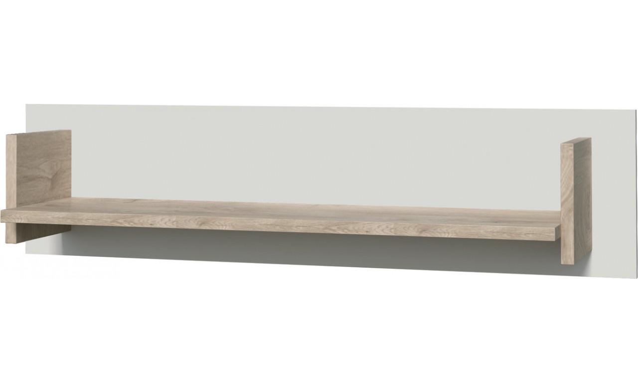 Brązowobiała lub brązowoczarna półka wisząca w stylu nowoczesnym ETNA 10